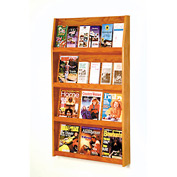 12 Magazine/24 Brochure Wall Display - Medium Oak