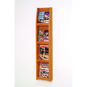 4 Magazine/8 Brochure Wall Display - Medium Oak