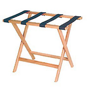 Luggage Rack w/ Straight Legs - Light Oak/Brown