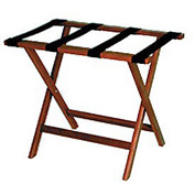 Luggage Rack w/ Straight Legs - Mahogany/Tan