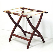 Luggage Rack w/ Convex Legs - Mahogany/Tapestry