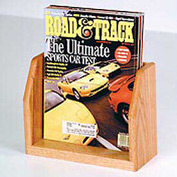 Countertop Single Pocket Magazine Display - Light Oak