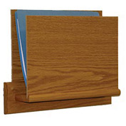 HIPAA Compliant Small Oak Open Ended Chart Holder - Light Oak