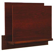 HIPAA Compliant Small Oak Open Ended Chart Holder - Mahogany