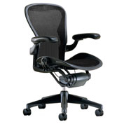 Herman Miller Refurbished Aeron Chair Size B Basic Model, Black