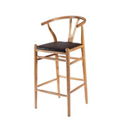 Fine Mod Imports Woodstring Bar Stool Chair, Natural