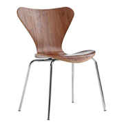 Fine Mod Imports Jays Dining Chair, Walnut