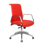 Fine Mod Imports Ox Office Chair Mid Back, Red