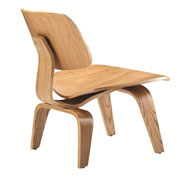 Fine Mod Imports Plywood Lounge Chair, Natural