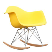 Fine Mod Imports Rocker Arm Chair, Yellow