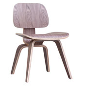Fine Mod Imports Plywood Dining Chair, Walnut