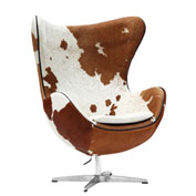 Fine Mod Imports Inner Chair Pony Hide, Brown and White