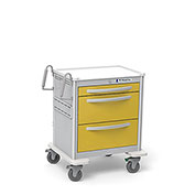 Waterloo 3-Drawer Short Lightweight Aluminum Isolation Cart USGKA-399-YEL, Key Lock, Yellow