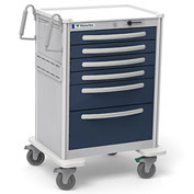 Waterloo 6-Drawer Tall Lightweight Aluminum Anesthesia Cart UTGSA-333369-DKB, Dark Blue