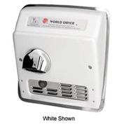 World Dryer Auto Recessed Hand Dryer - 115V, Brushed SS - DXRA5-Q973