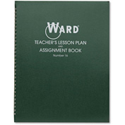"Ward® Lesson Plan Book 16, 11"" x 8-1/2"", White, 6 Classes/Day"