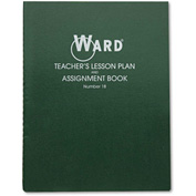 "Ward® Lesson Plan Book 18, 11"" x 8-1/2"", White, 8 Classes/Day"