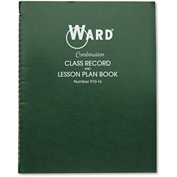 "Ward® Combination Record & Plan Book 91016, 11"" x 8-1/2"", White, 6 Classes/Day"