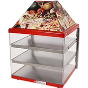 "Wisco Industries®3 Shelf Pizza Display Warmer, Single Door Unit, 18"" W x 24""H x 18""D"