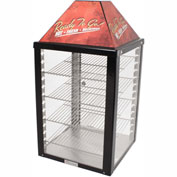 "Wisco Industries®Display Warmer - 4 Shelf, Adjustable Thermostat, 18""W x 34""H x 18""D"