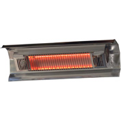 Fire Sense Wall Mounted Infrared Patio Heater 02110, 1500W, Stainless Steel