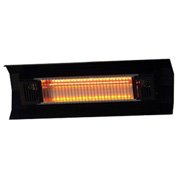 Fire Sense Wall Mounted Infrared Patio Heater 60460, 1550W, Black Steel