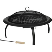 "Fire Sense 29"" Round Folding Fire Pit 60838 Black"