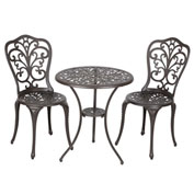 Faustina Antique Bronze Bistro Set, 3-Piece