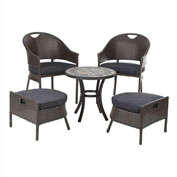 Campeche All-Weather Wicker Bistro Set, 5-Piece