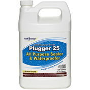 Plugger 25 Clear Acrylic Flat Sheen Surface Sealer, Gallon Bottle 4/Case - CR-1525CS