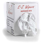 Wipe-Tex New Virgin Cotton Knit Rags, White 5 Lb. Box 1 Box/Case - R-NW1001-5