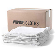 Wipe-Tex Recycled Cotton Terry Cut Rags, White 5 Lb. Box 1 Box/Case - R-WTT1000-5