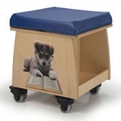 Whitney Brothers Book Lovers Teacher Stool with Image