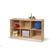 Whitney Brothers 6 Cubby Storage Cabinet