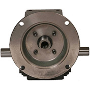 Worldwide HdRF237-30/1-DE-56C Cast Iron Right Angle Worm Gear Reducer 30:1 Ratio 56C Frame