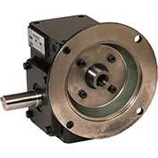 Worldwide HdRF237-50/1-L-56C Cast Iron Right Angle Worm Gear Reducer 50:1 Ratio 56C Frame