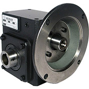 Worldwide HdRF325-60/1-H-56C Cast Iron Right Angle Worm Gear Reducer 60:1 Ratio 56C Frame