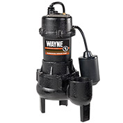 Wayne, RPP50 1/2 Horsepower Cast Iron Sewage Pump with Tether Float Switch