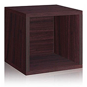 Way Basics Eco Stackable Storage Cube, Espresso