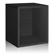 Way Basics Eco Stackable Storage Cube Plus, Black