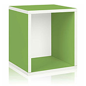 Way Basics Eco Stackable Storage Cube Plus, Green
