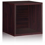 Way Basics Stackable Large Storage Cube, Espresso