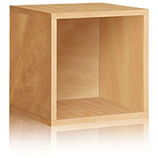 Way Basics Stackable Large Storage Cube, Natural