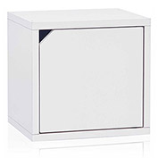 Way Basics Stackable Cube With Door, White