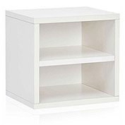 Way Basics Stackable Cube With Shelf, White