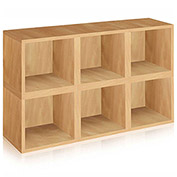 Way Basics Stackable Modular Storage 6 Cubes, Natural