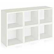Way Basics Stackable Modular Storage 6 Cubes, White