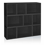 Way Basics Stackable Oxford Modular Storage, Black