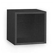 Way Basics Eco Wall Cube Shelf, Black
