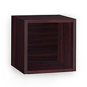Way Basics Eco Wall Cube Shelf, Espresso
